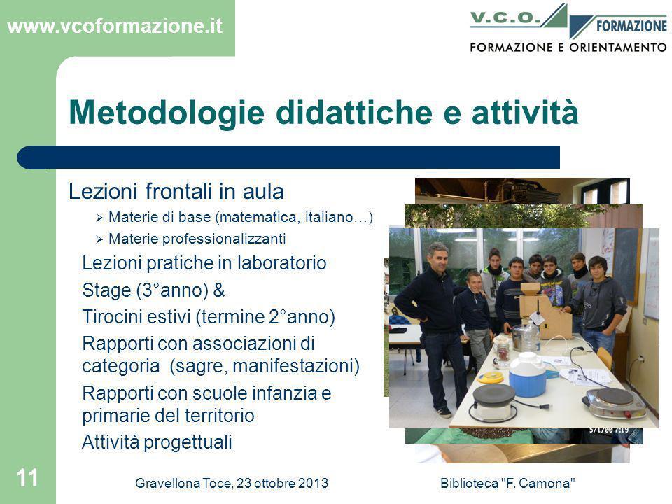 Metodologie didattiche e attività