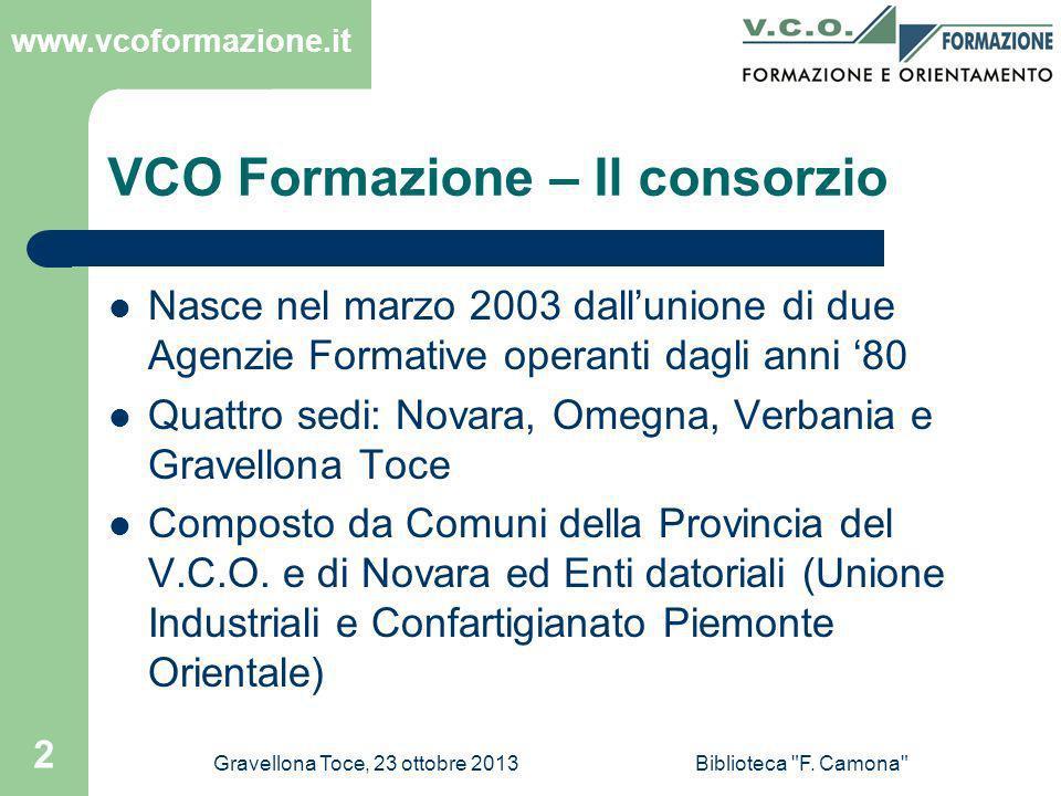 VCO Formazione – Il consorzio