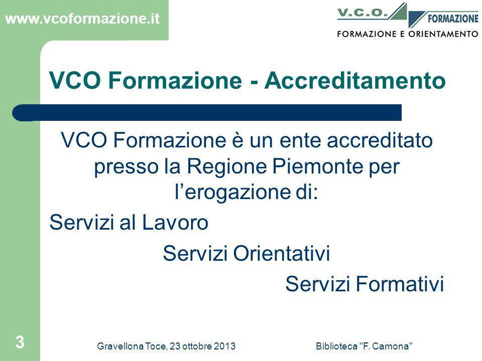 VCO Formazione - Accreditamento