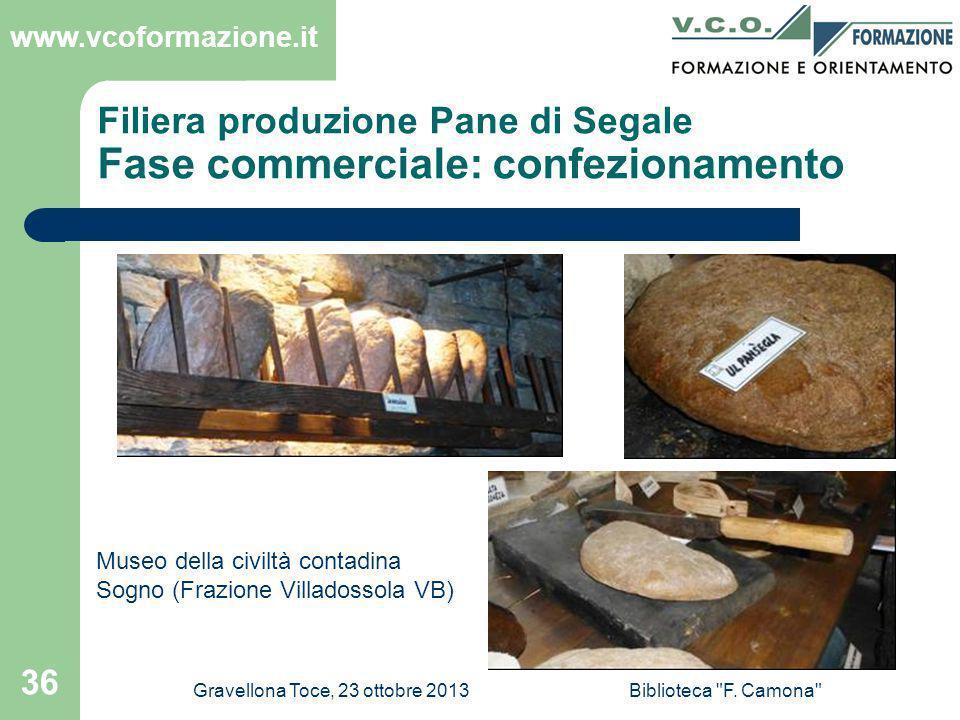 Filiera produzione Pane di Segale Fase commerciale: confezionamento