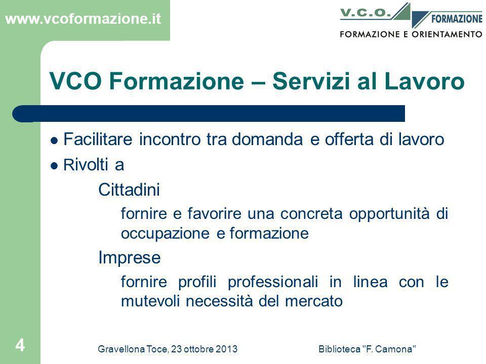 VCO Formazione – Servizi al Lavoro