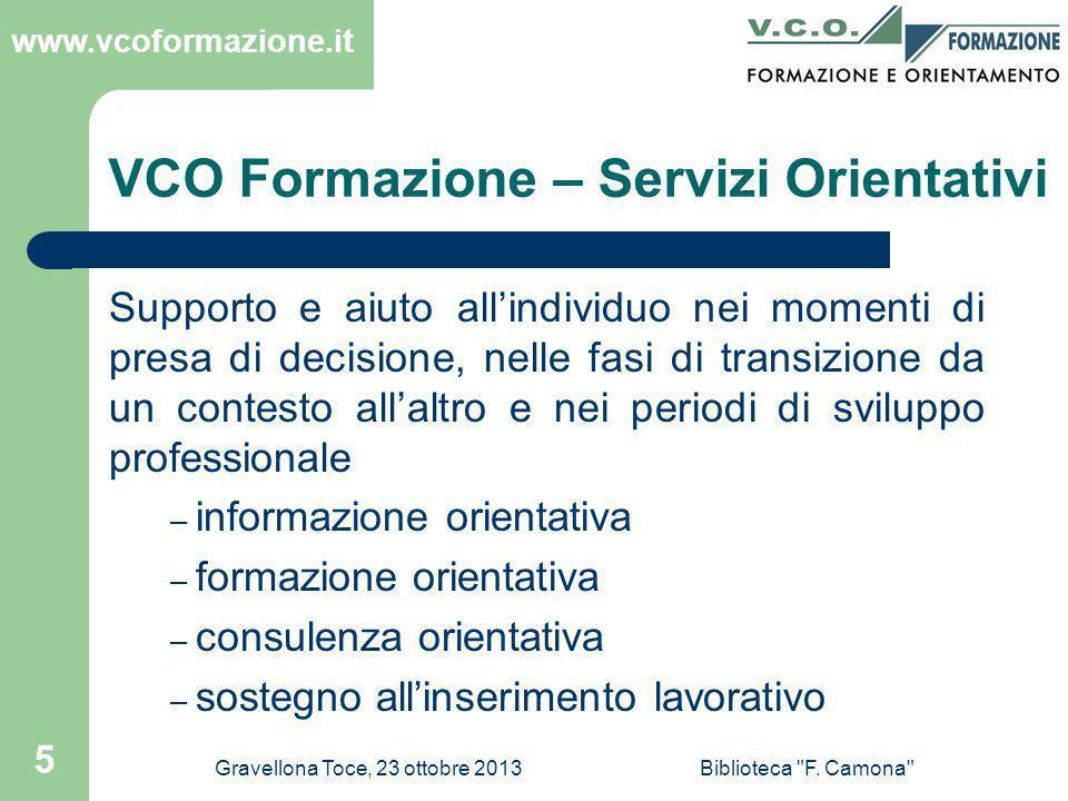 VCO Formazione – Servizi Orientativi