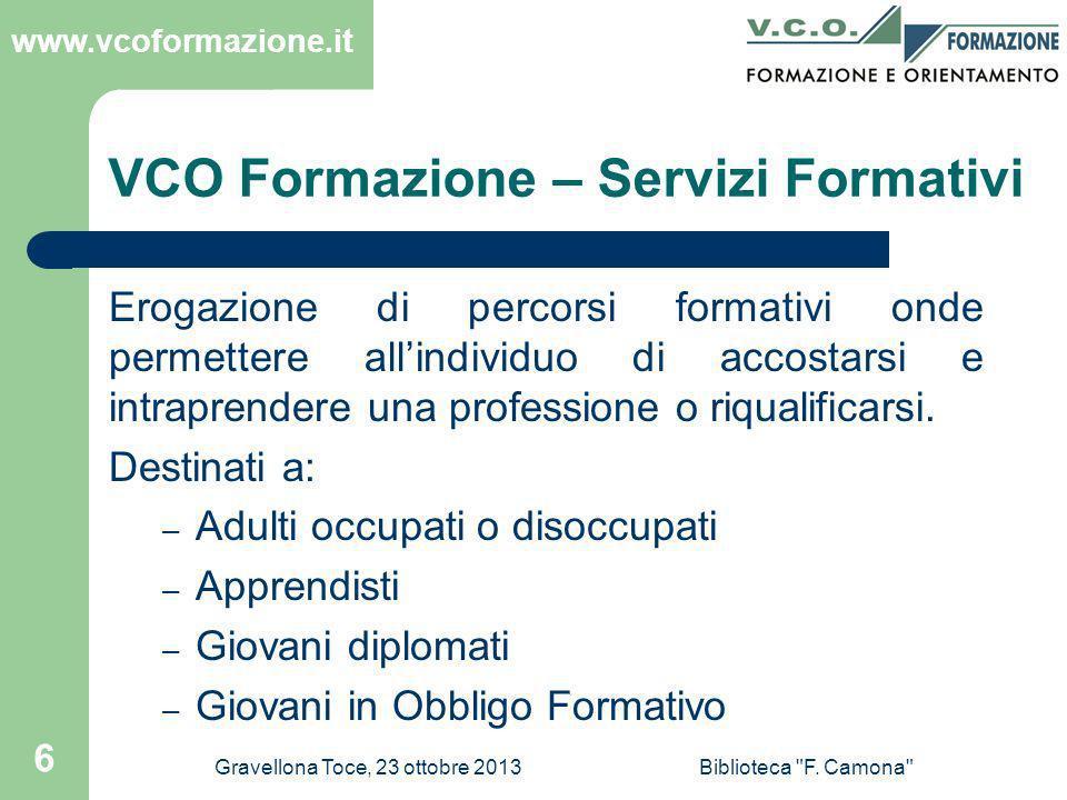 VCO Formazione – Servizi Formativi