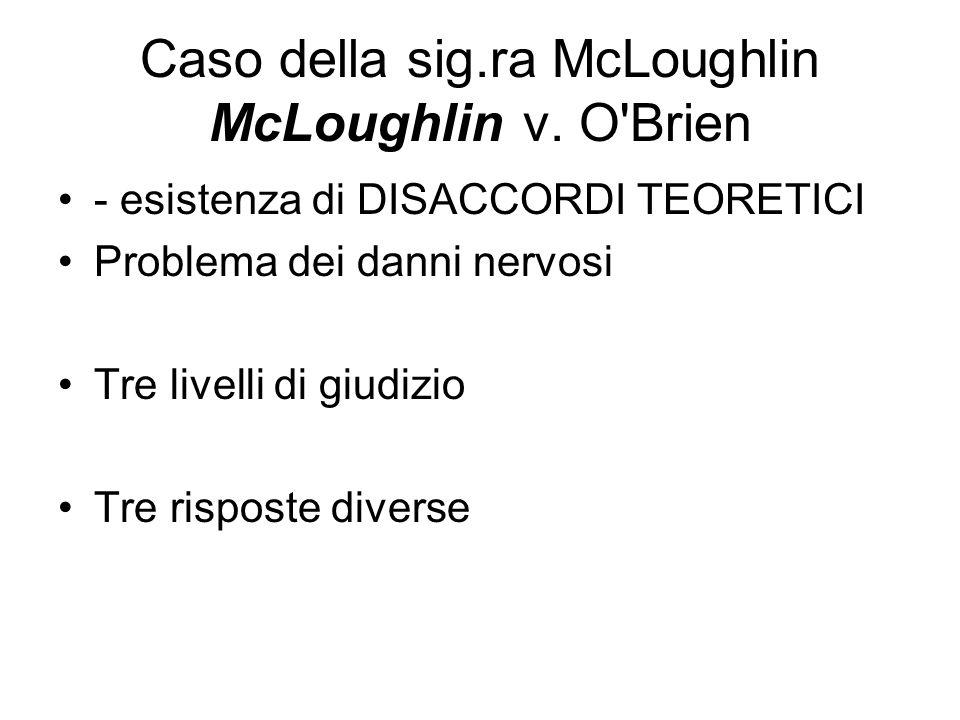 Caso della sig.ra McLoughlin McLoughlin v. O Brien