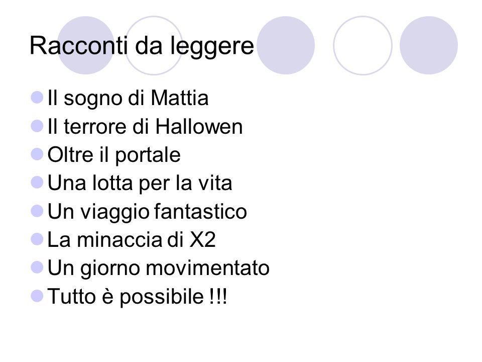 Racconti da leggere Il sogno di Mattia Il terrore di Hallowen