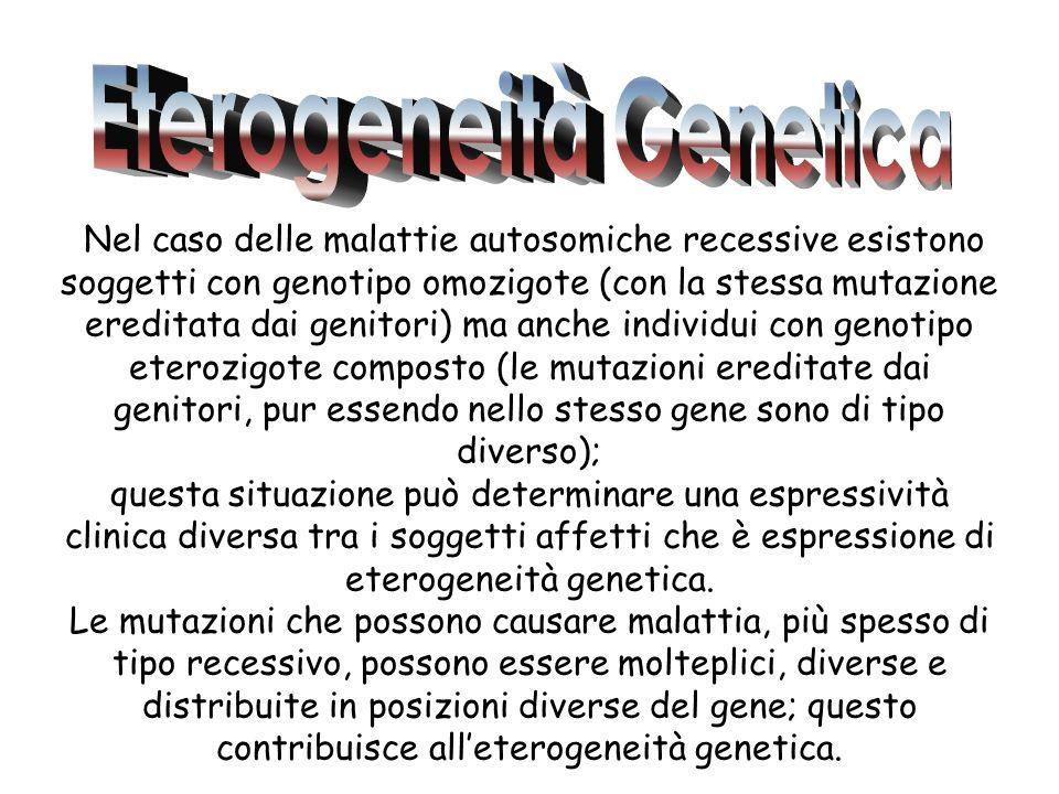 Eterogeneità Genetica