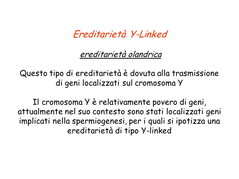 Ereditarietà Y-Linked