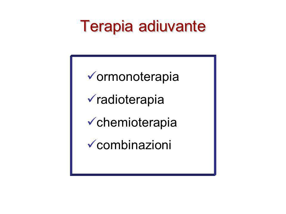 Terapia adiuvante ormonoterapia radioterapia chemioterapia