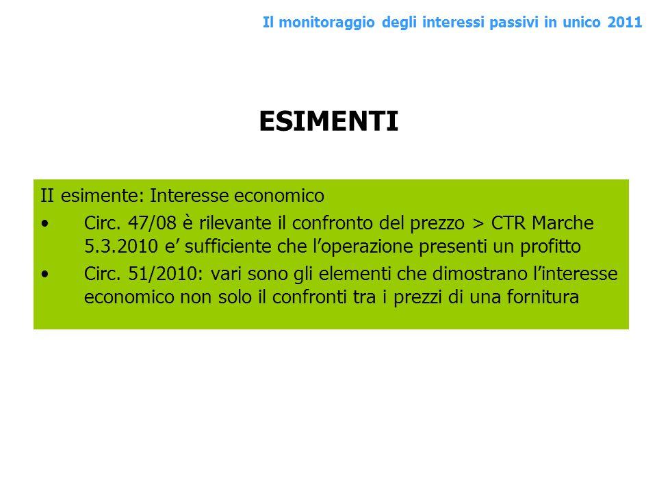 ESIMENTI II esimente: Interesse economico