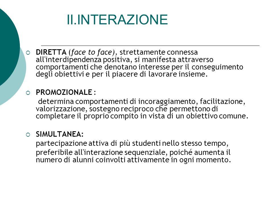 II.INTERAZIONE