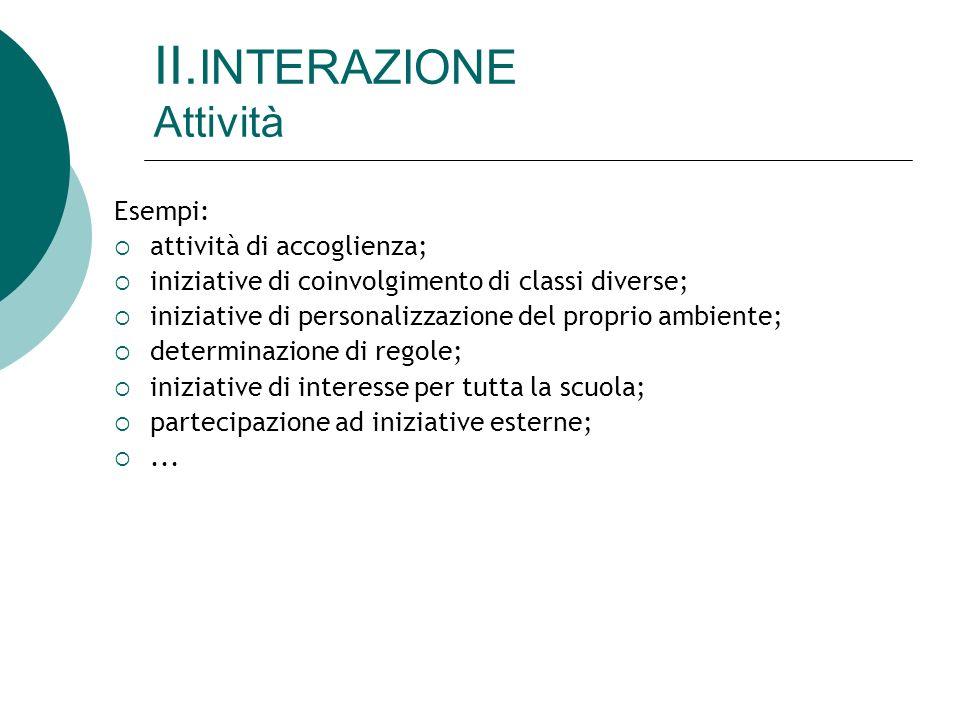 II.INTERAZIONE Attività