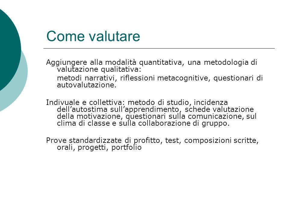 Come valutare Aggiungere alla modalità quantitativa, una metodologia di valutazione qualitativa: