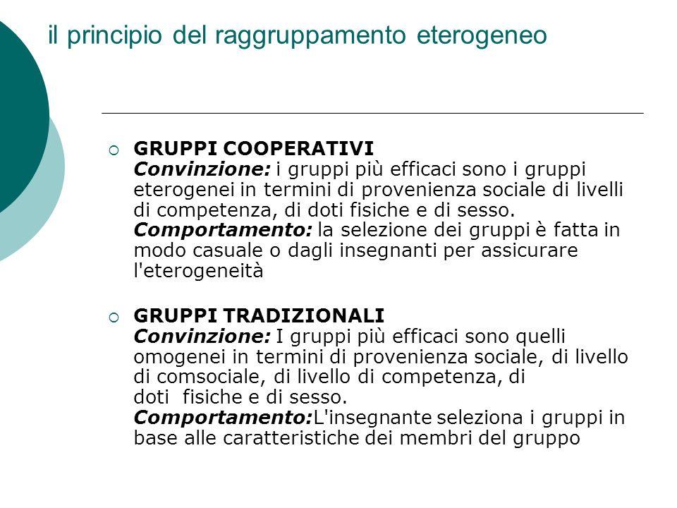 il principio del raggruppamento eterogeneo