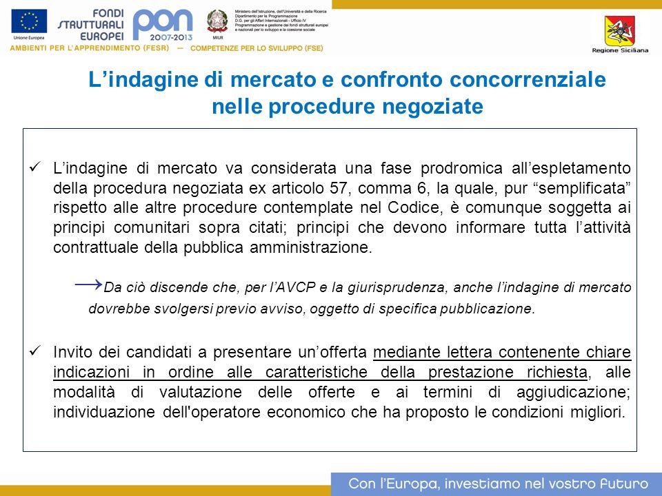 L'indagine di mercato e confronto concorrenziale nelle procedure negoziate