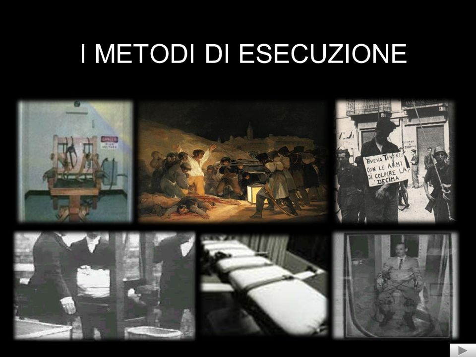 I METODI DI ESECUZIONE
