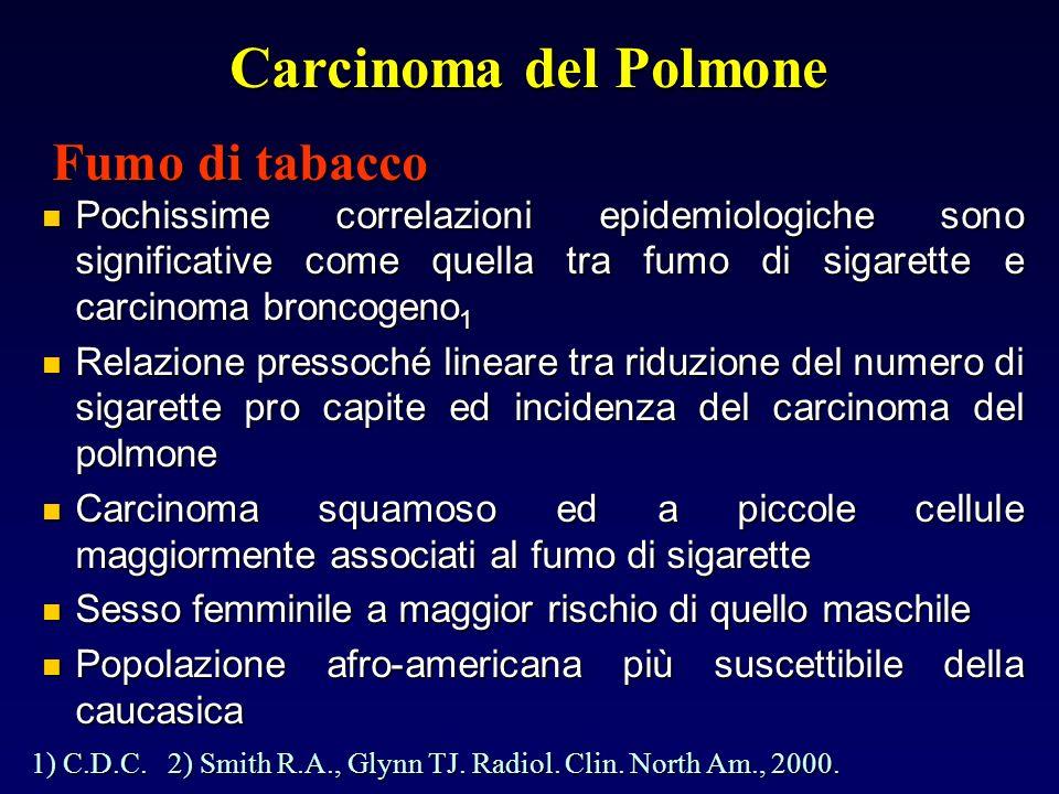 Carcinoma del Polmone Fumo di tabacco