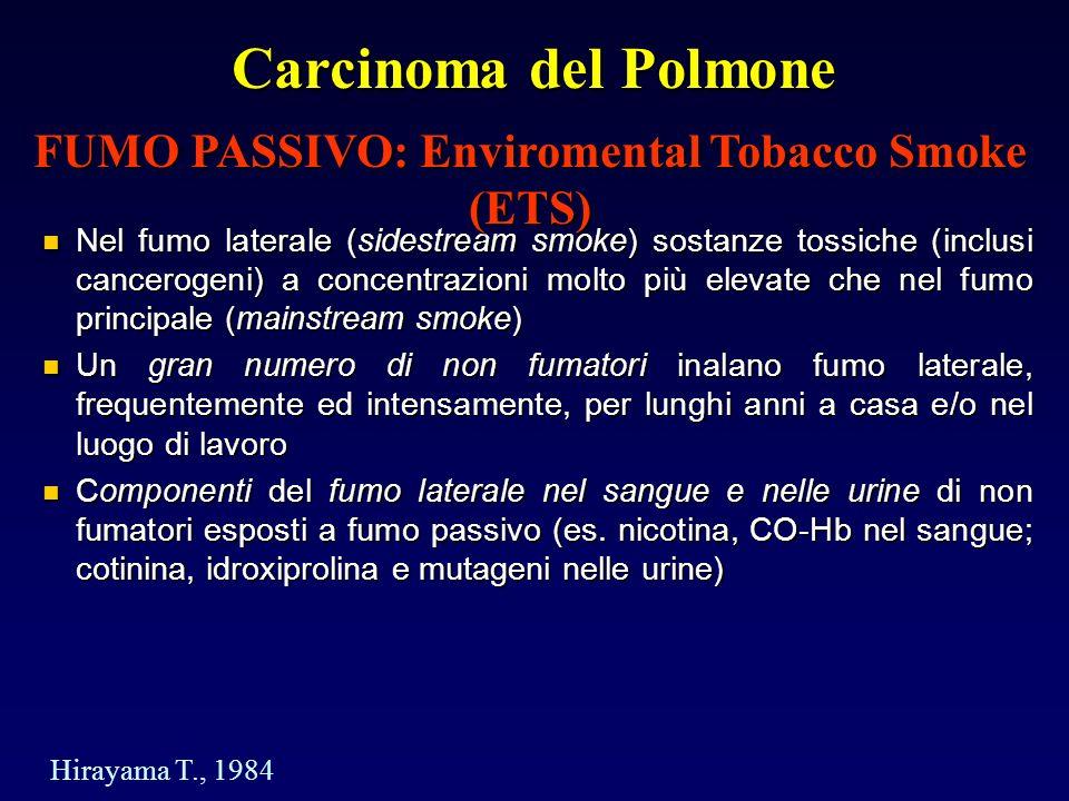 FUMO PASSIVO: Enviromental Tobacco Smoke (ETS)