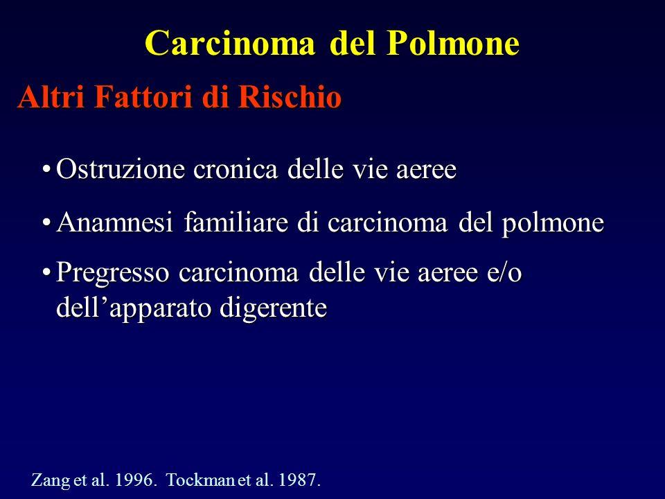 Carcinoma del Polmone Altri Fattori di Rischio