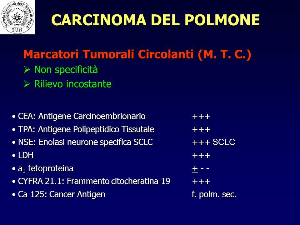 CARCINOMA DEL POLMONE Marcatori Tumorali Circolanti (M. T. C.)