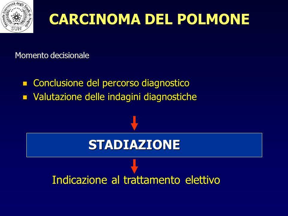 CARCINOMA DEL POLMONE STADIAZIONE Indicazione al trattamento elettivo
