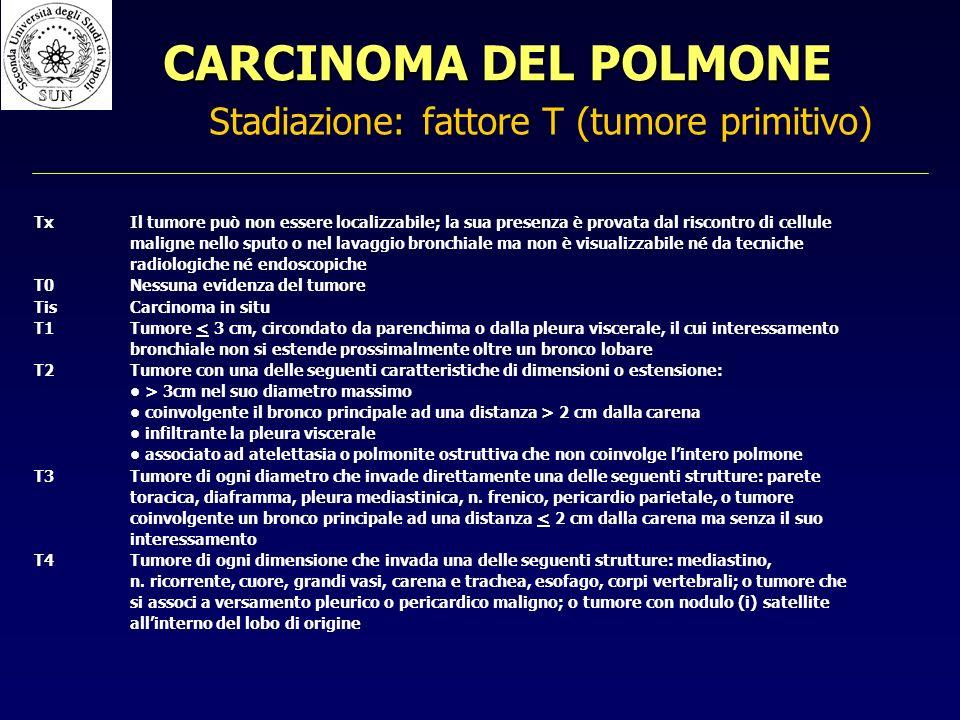 Stadiazione: fattore T (tumore primitivo)