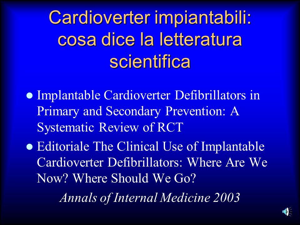 Cardioverter impiantabili: cosa dice la letteratura scientifica