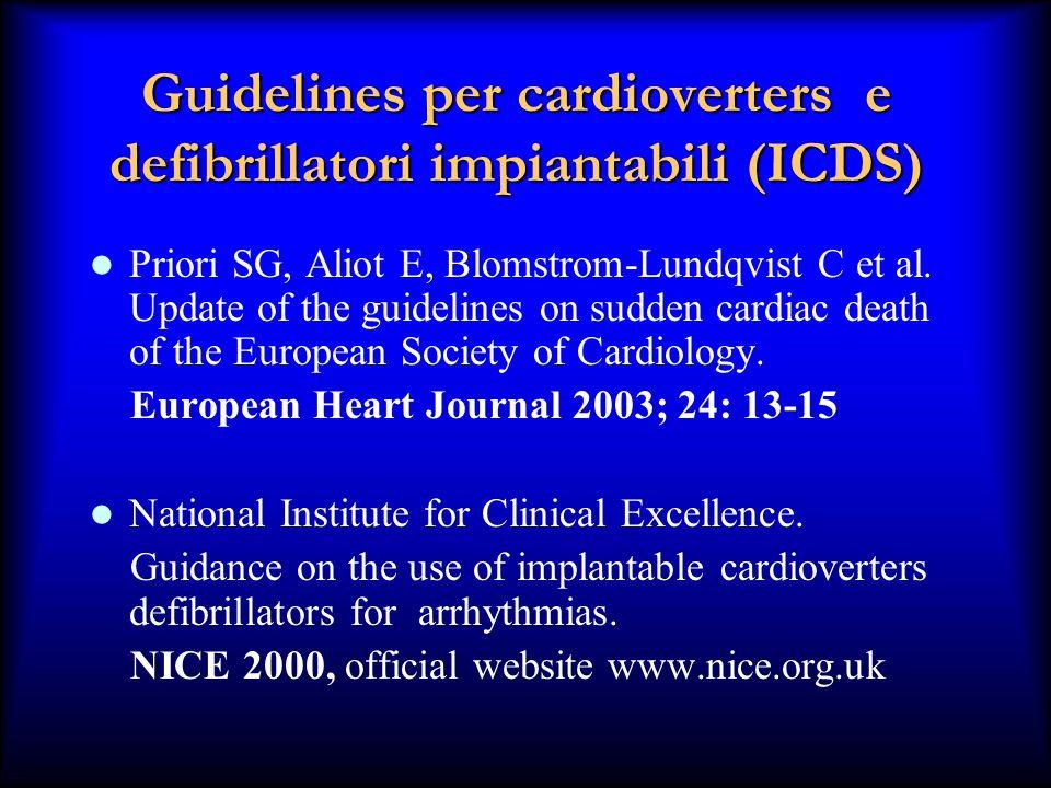 Guidelines per cardioverters e defibrillatori impiantabili (ICDS)