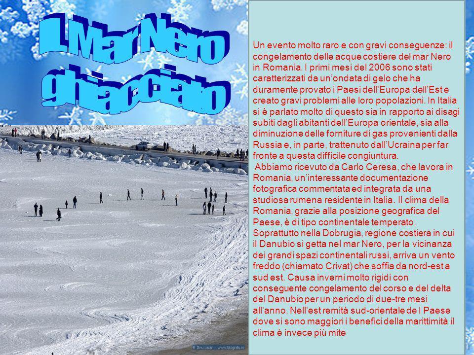 IL Mar Nero ghiacciato.