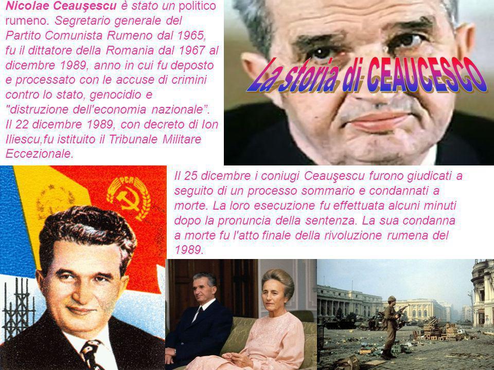 Nicolae Ceauşescu è stato un politico rumeno