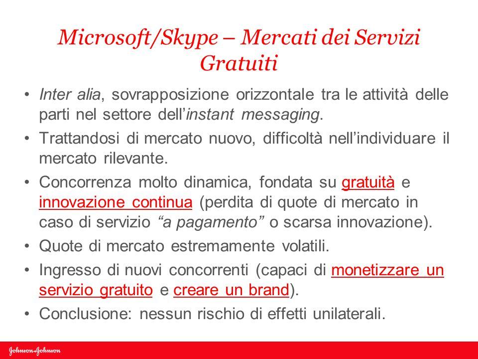 Microsoft/Skype – Mercati dei Servizi Gratuiti