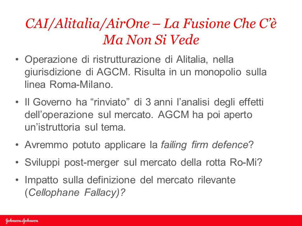 CAI/Alitalia/AirOne – La Fusione Che C'è Ma Non Si Vede