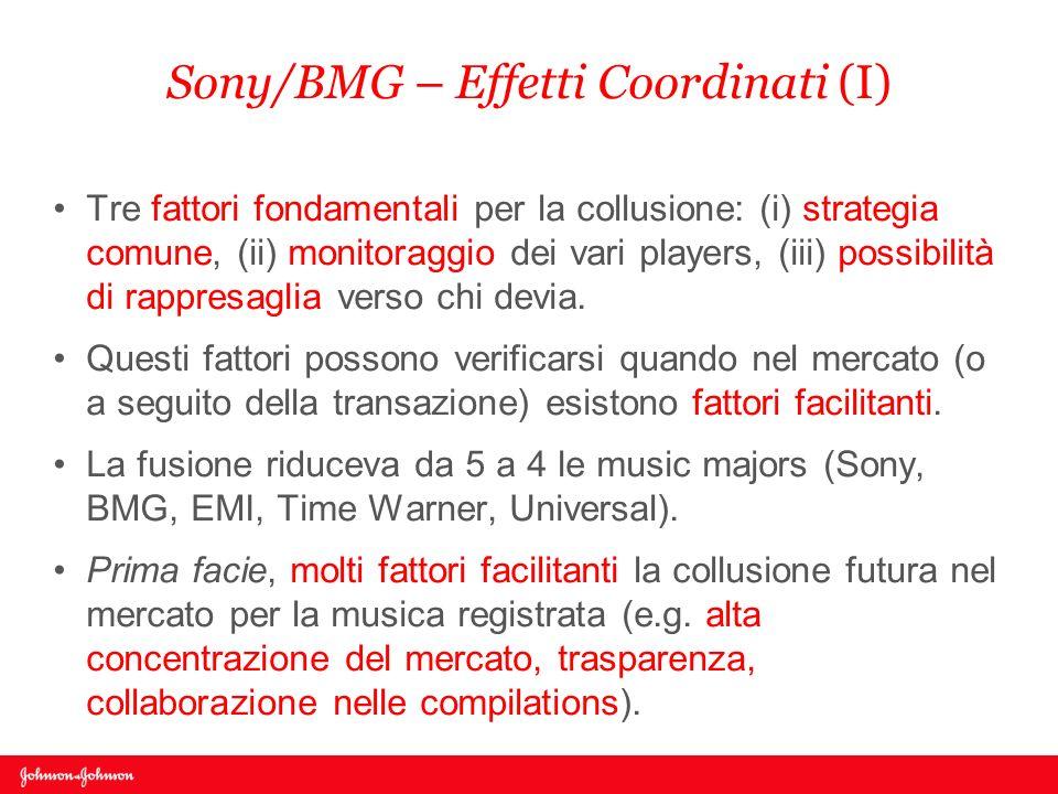 Sony/BMG – Effetti Coordinati (I)