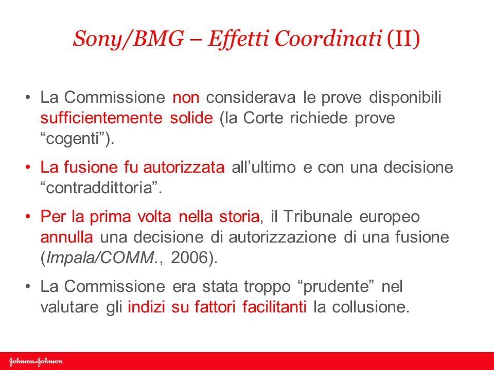 Sony/BMG – Effetti Coordinati (II)