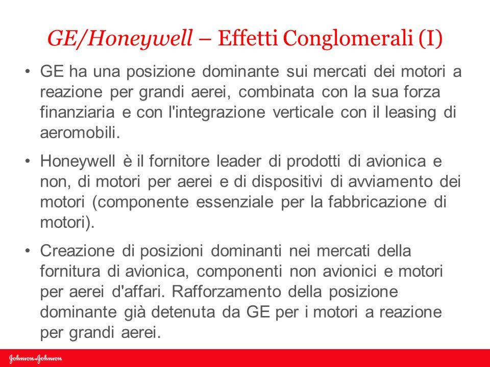 GE/Honeywell – Effetti Conglomerali (I)