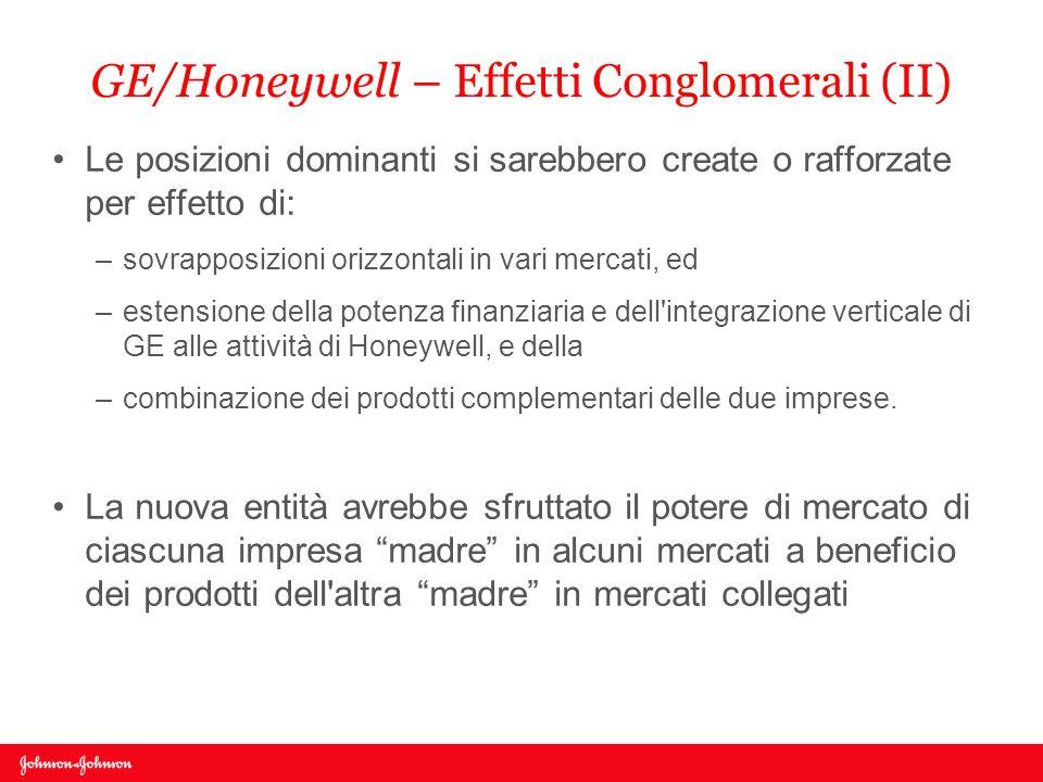GE/Honeywell – Effetti Conglomerali (II)