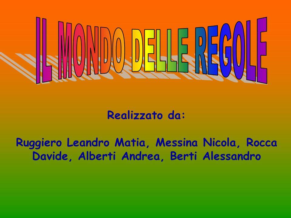 IL MONDO DELLE REGOLE Realizzato da: Ruggiero Leandro Matia, Messina Nicola, Rocca Davide, Alberti Andrea, Berti Alessandro.