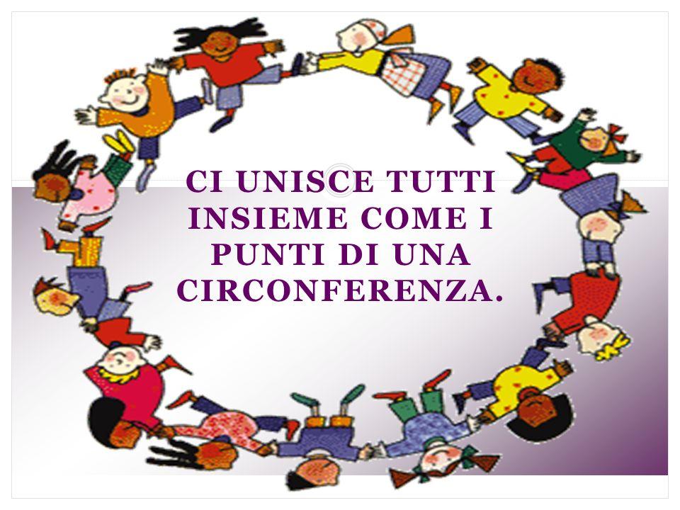 Ci unisce tutti insieme come i punti di una circonferenza.