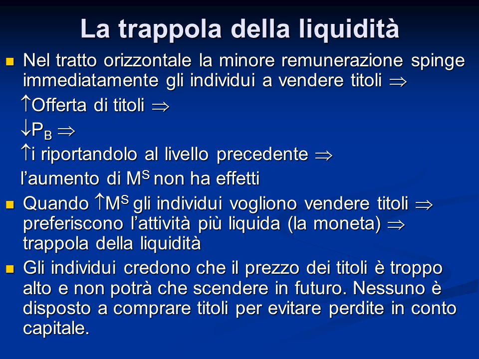 La trappola della liquidità