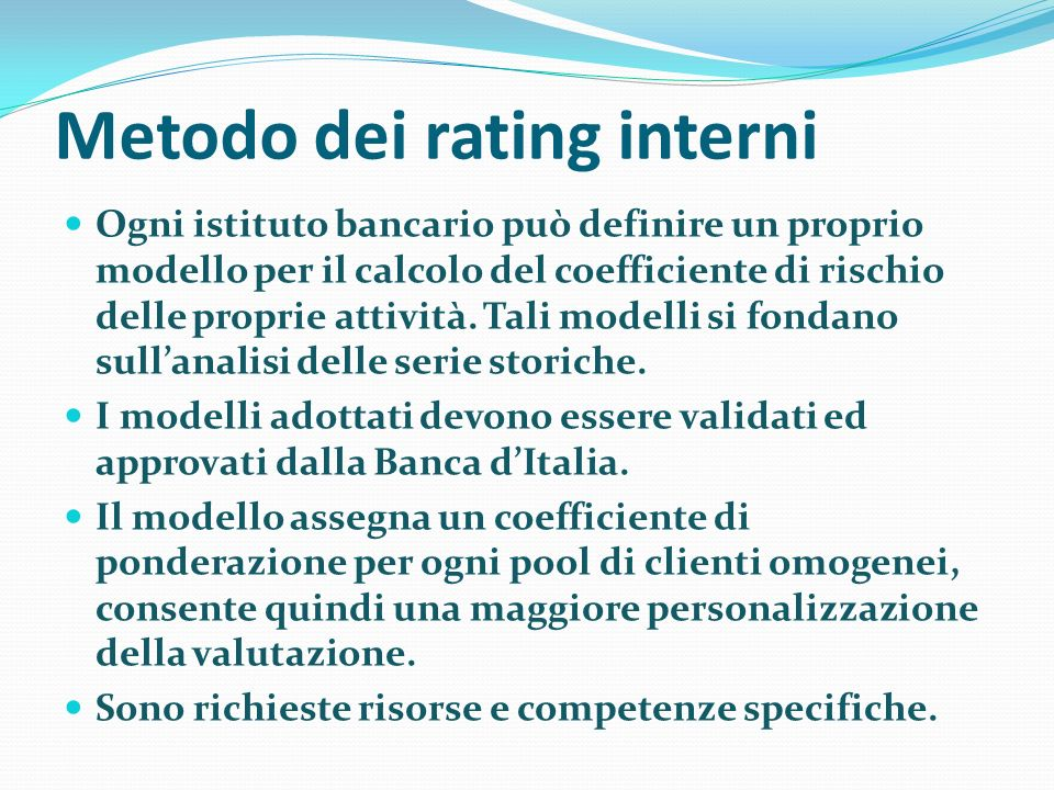 Metodo dei rating interni