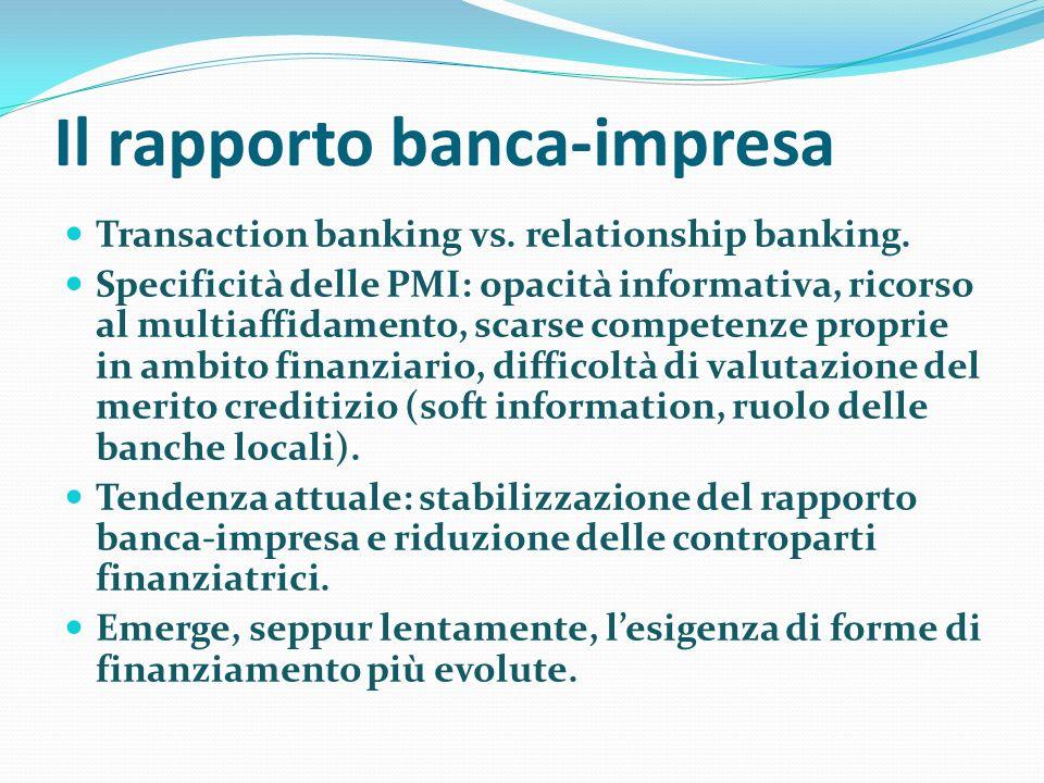 Il rapporto banca-impresa