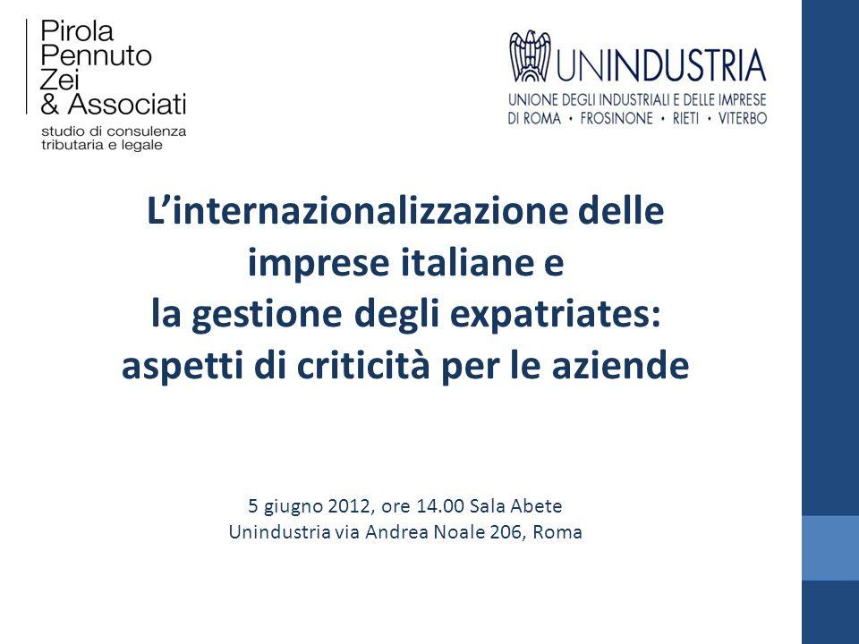 L'internazionalizzazione delle imprese italiane e