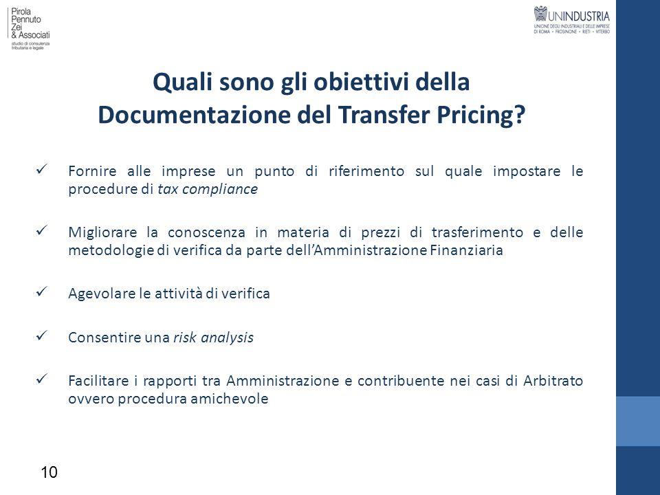 Quali sono gli obiettivi della Documentazione del Transfer Pricing