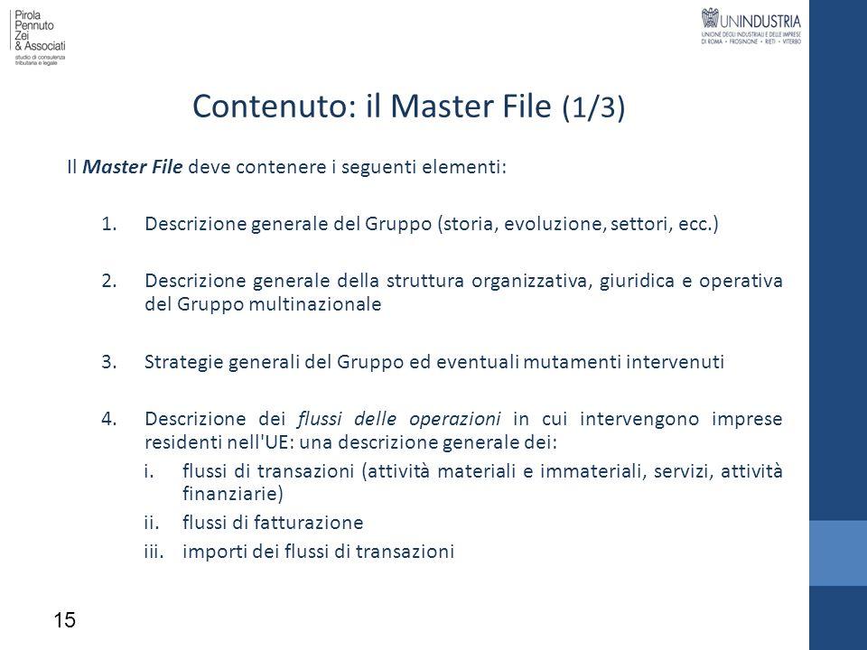 Contenuto: il Master File (1/3)