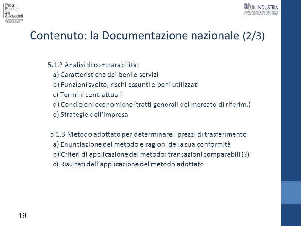 Contenuto: la Documentazione nazionale (2/3)