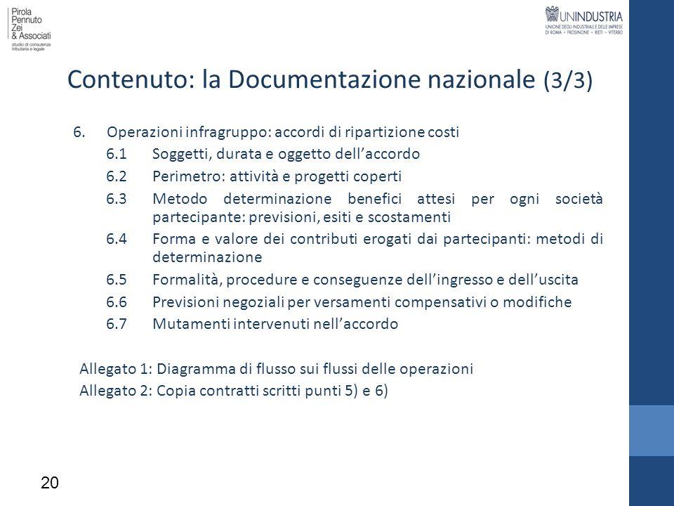 Contenuto: la Documentazione nazionale (3/3)