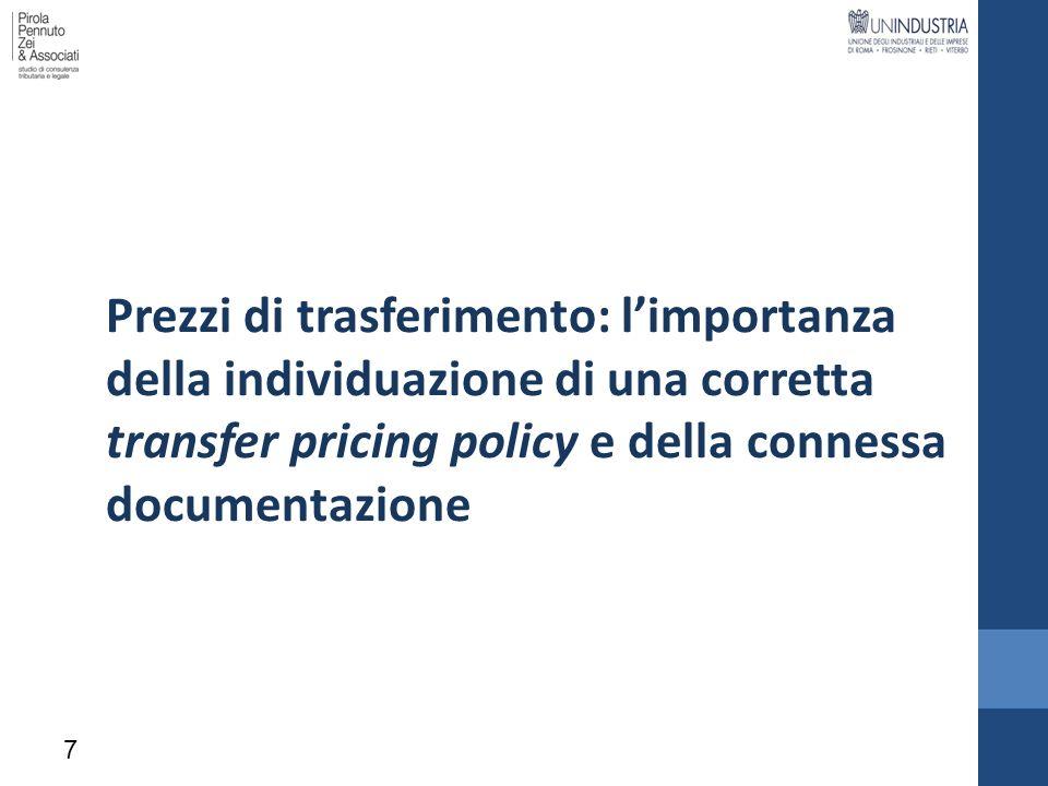 Prezzi di trasferimento: l'importanza della individuazione di una corretta transfer pricing policy e della connessa documentazione