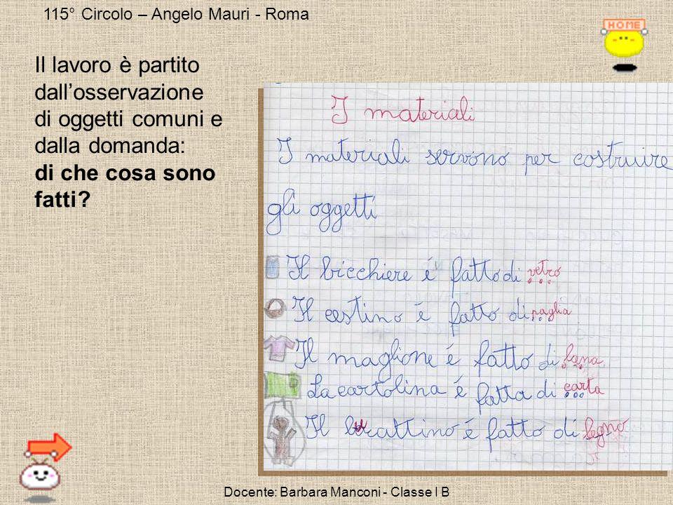 Docente: Barbara Manconi - Classe I B