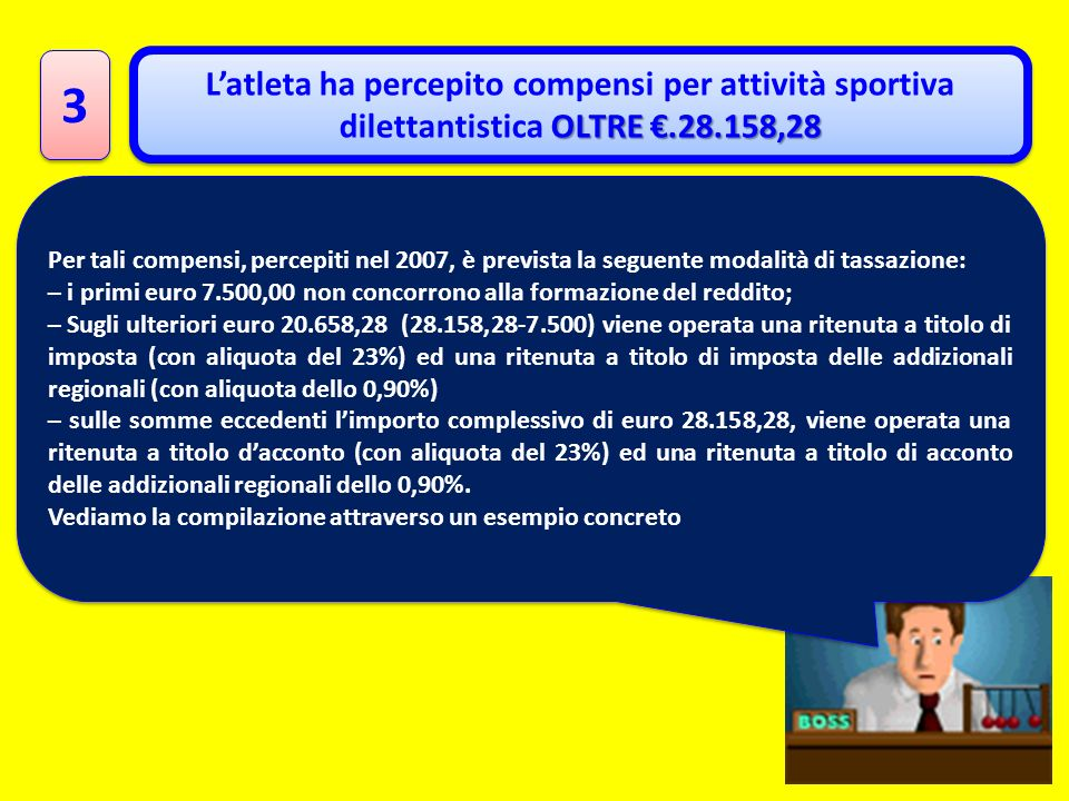 3 L'atleta ha percepito compensi per attività sportiva dilettantistica OLTRE €.28.158,28.