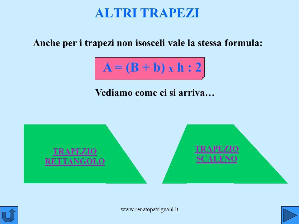 ALTRI TRAPEZI A = (B + b) x h : 2