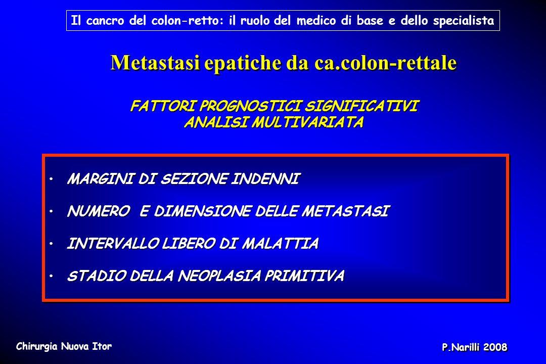 Metastasi epatiche da ca.colon-rettale